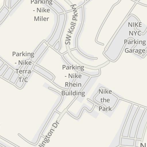 Waze Livemap Driving Directions To Nike Vapor Jet Beaverton