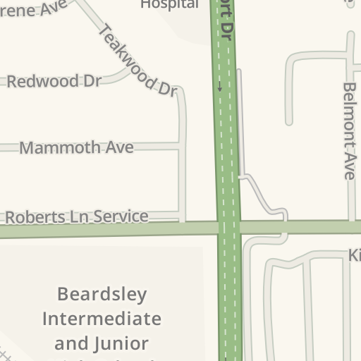 Waze Livemap Driving Directions To North Beardsley Elementary