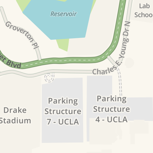 Driving Directions to Parking - UCLA - Structure 8, Los
