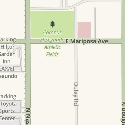 Raytheon El Segundo Campus Map.Waze Livemap Driving Directions To Raytheon R2 El Segundo