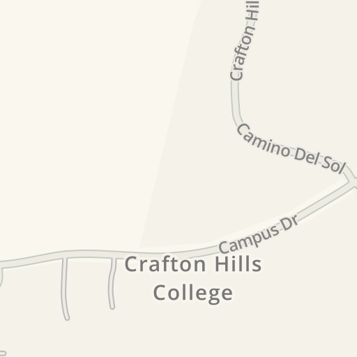 Crafton Hills College Campus Map.Waze Livemap Driving Directions To Crafton Hills College Yucaipa