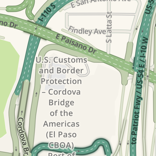Waze Livemap Driving Directions To Us Customs And Border - Us-ports-of-entry-map