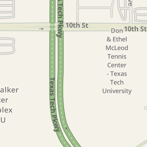 Waze Livemap - Driving Directions to C13 Parking - TTU, Lubbock ...