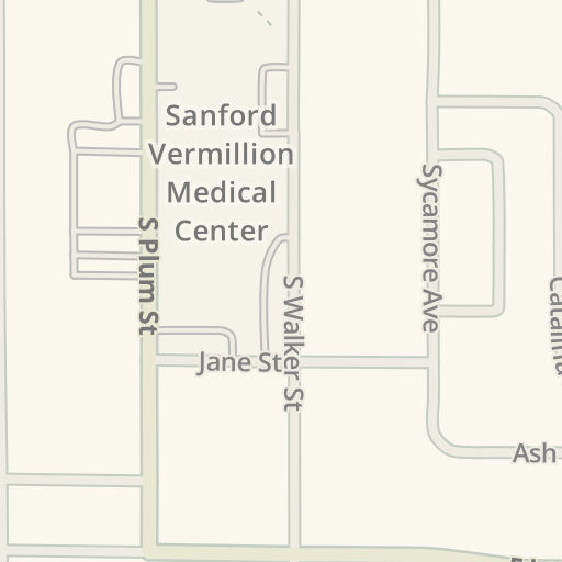 Usd Vermillion Campus Map.Waze Livemap Driving Directions To Usd Student Health Services