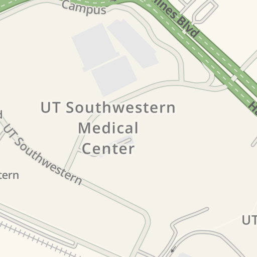 Waze Livemap Driving Directions To Visitor Lot 7 Utsw Medical