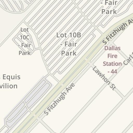 Waze Livemap Driving Directions To Fair Park Gate 5 Dallas