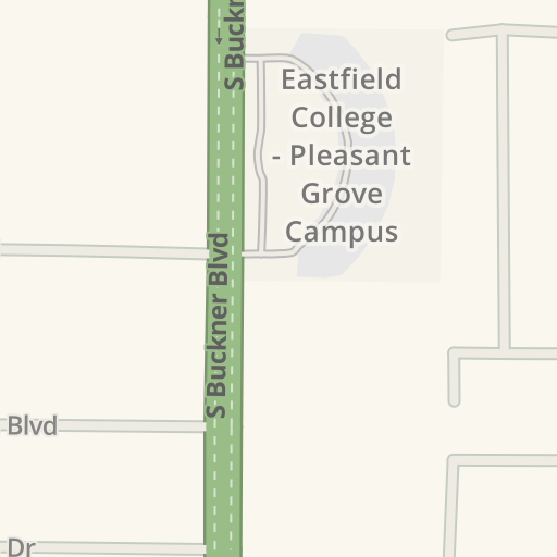 Waze Livemap Driving Directions To Eastfield College Pleasant