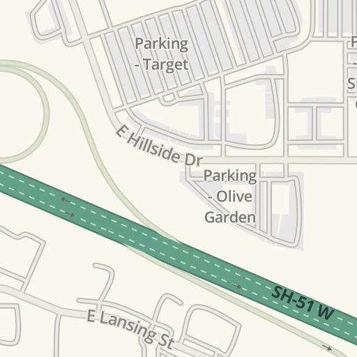 waze livemap driving directions to olive garden broken arrow united states - Olive Garden Broken Arrow