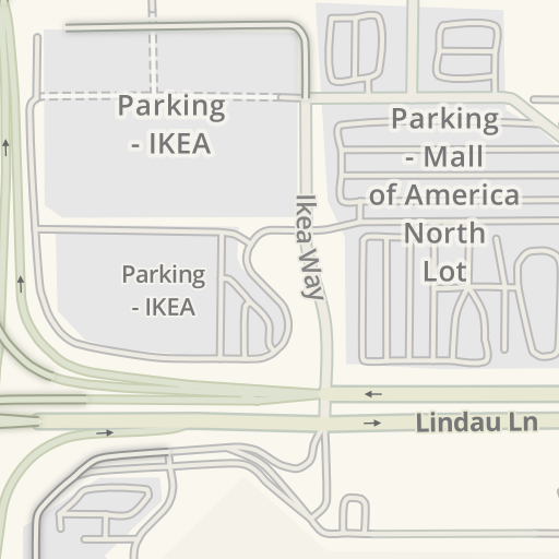 Waze Livemap Driving Directions To Parking Mall Of America West