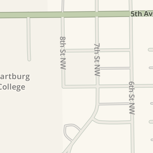 Waze Livemap Driving Directions To Wartburg College Waverly