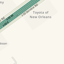 Waze Livemap   Driving Directions To Toyota Of New Orleans, New Orleans,  United States