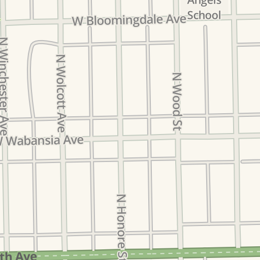 Waze Livemap Driving Directions To Chase Bank Bucktown Chicago