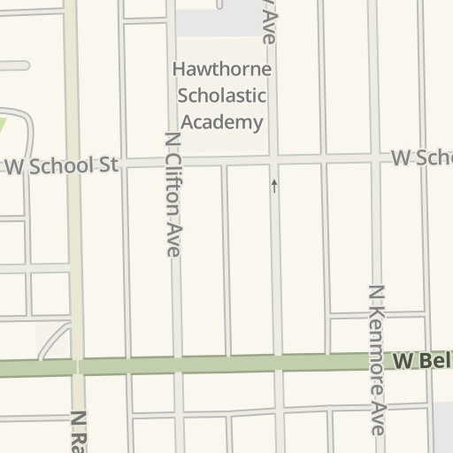 Waze Livemap Driving Directions To Wrigley Field Chicago United