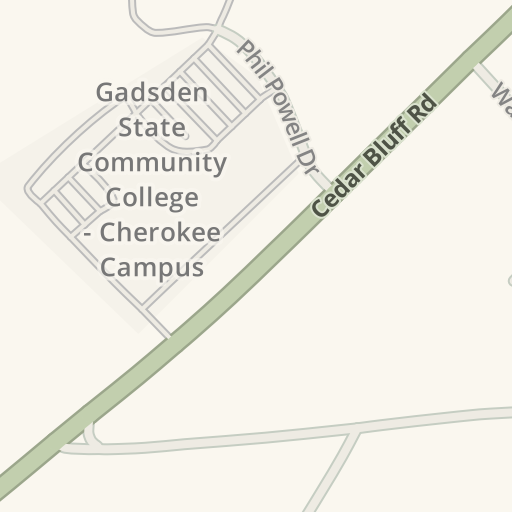 Gadsden State Campus Map.Waze Livemap Driving Directions To Gadsden State Community College