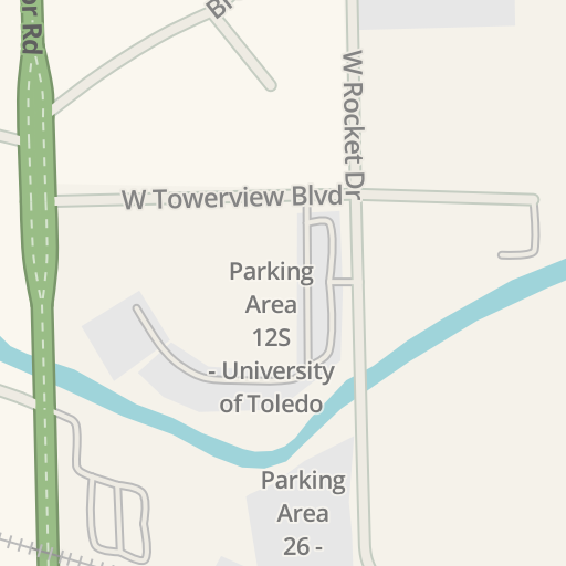 Waze Livemap - Driving Directions to Parking Area 27A - University ...