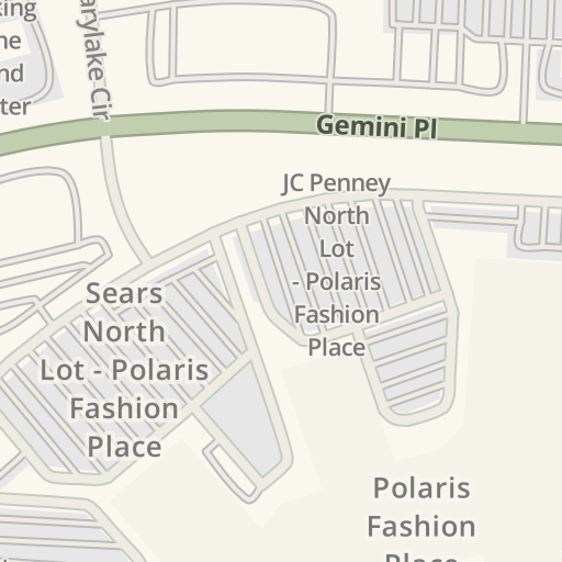 Waze Livemap - Driving Directions to Polaris Fashion Place, Columbus ...