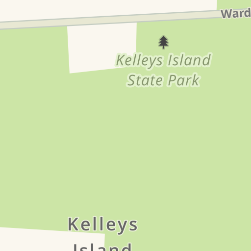 Waze Livemap - Driving Directions to Kelley's Island State Park on kelleys island campground, south bass island state park map, middle bass island map, kelleys island ferry, kelleys island rentals,
