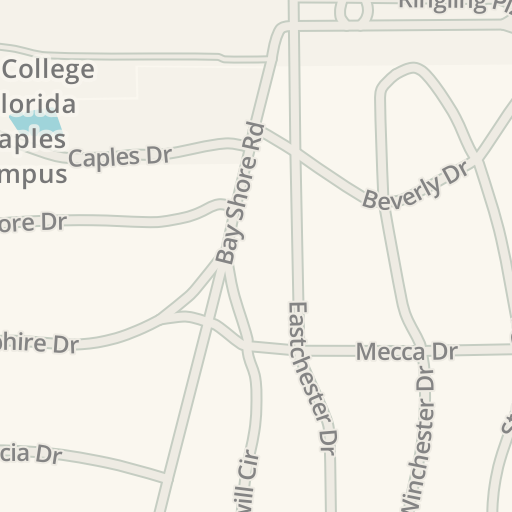Waze Livemap Driving Directions To New College Of Florida Caples