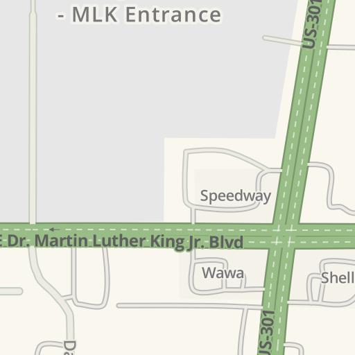Florida State Fairgrounds Map.Waze Livemap Driving Directions To Florida State Fairgrounds Mlk