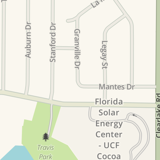 Ucf Cocoa Campus Map.Waze Livemap Driving Directions To Bernard Simpkins Fine Arts