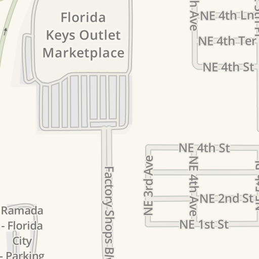 Florida Keys Outlet Center Map.Waze Livemap Driving Directions To Nautica Outlet Store Florida