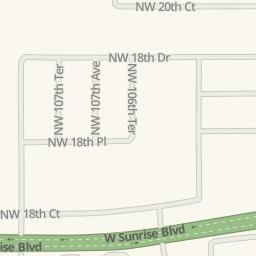 Waze Livemap - Driving Directions to La Bamba, Plantation ...