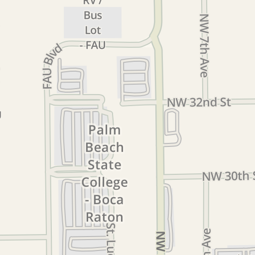 Campus Map Fau.Waze Livemap Driving Directions To Campus Operations Building