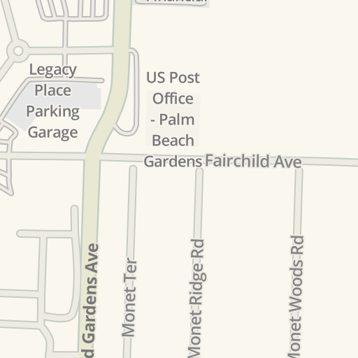 Waze Livemap Driving Directions To The Container Palm Beach Gardens United States