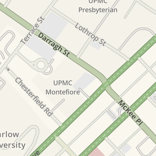 Waze Livemap - Driving Directions to UPMC Montefiore