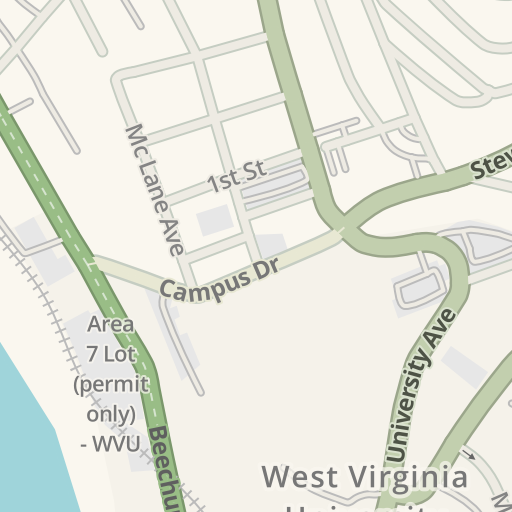 Waze Livemap Driving Directions To Wvu Downtown Campus Library