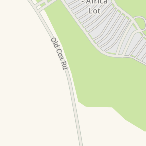 Waze Livemap - Driving Directions to Parking - NC Zoo - Africa Lot ...