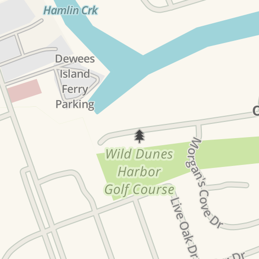 Waze Livemap - Driving Directions to Wild Dunes Harbor Golf Course ...