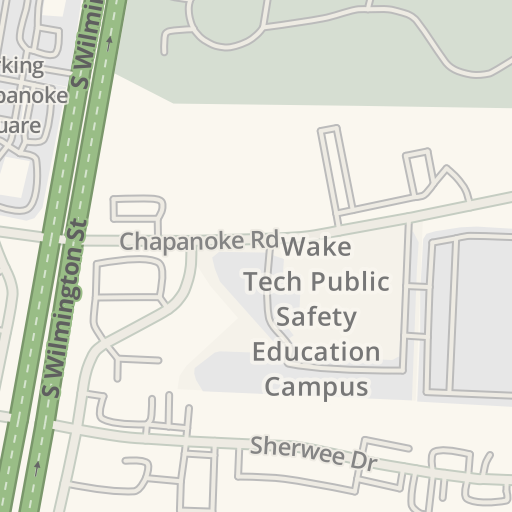 Waze Livemap Driving Directions To Wake Tech Public Safety