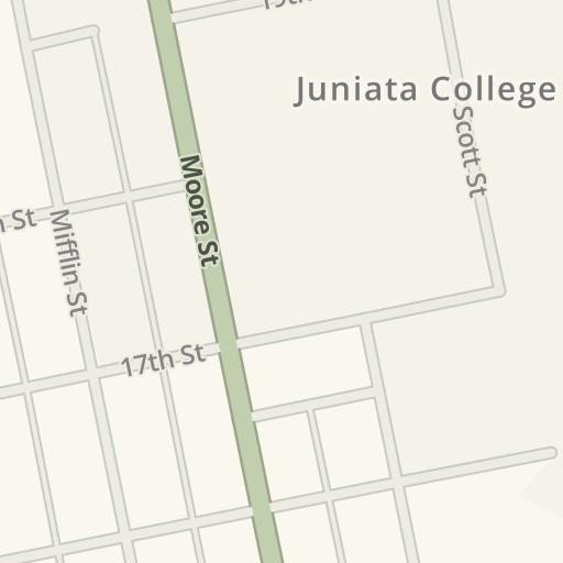 Juniata Campus Map.Waze Livemap Driving Directions To Juniata College Huntingdon
