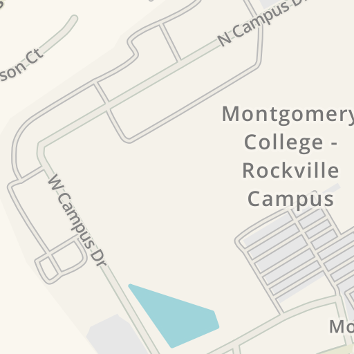 Waze Livemap Driving Directions To Campus Center Montgomery