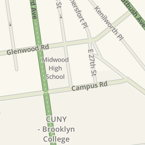 Cuny Campus Map.Waze Livemap Driving Directions To Cuny Brooklyn College