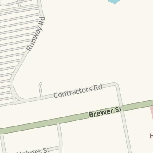 Waze Livemap Driving Directions To Pratt Amp Whitney Office