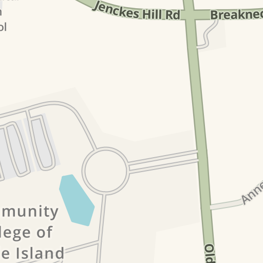 Waze Livemap Driving Directions To Community College Of Rhode