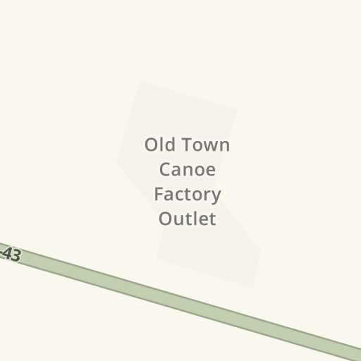 Waze Livemap Driving Directions To Old Town Canoe Factory Outlet